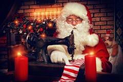 不可思议的圣诞老人 库存照片