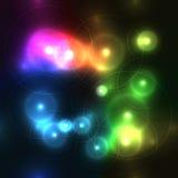 不可思议的在黑暗的背景的彩虹五颜六色的泡影 免版税图库摄影