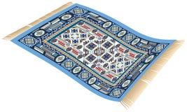 不可思议的地毯蓝色 库存照片