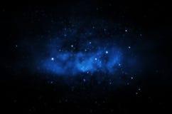 不可思议的夜空背景 免版税库存照片