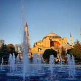 不可思议的天在Istambul 图库摄影