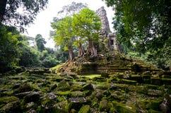 不可思议的寺庙在柬埔寨 库存图片
