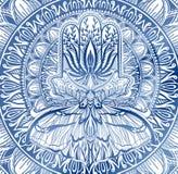 不可思议的护符宗教亚洲人 蓝色图表在白色背景中 蝴蝶飞蛾坛场例证 皇族释放例证