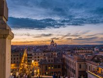 不可思议的日落在罗马 免版税图库摄影