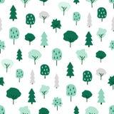不可思议的木无缝的样式 库存例证