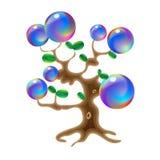 不可思议的树幻想,巫术传染媒介设计梦想例证的对象 库存例证