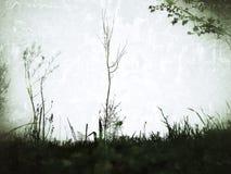 不可思议的森林剪影  免版税库存图片