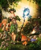 不可思议的森林神仙 皇族释放例证