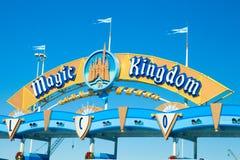 不可思议的王国游乐园入口 库存照片