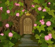不可思议的矮子城堡门  免版税库存图片