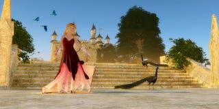 不可思议的童话城堡 图库摄影