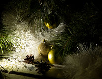 不可思议的艺术圣诞节和新年贺卡 库存照片