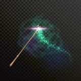 不可思议的鞭子闪闪发光闪烁光足迹踪影 库存例证