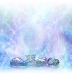 不可思议的水晶愈合的能量领域 免版税库存图片