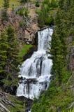 不可思议的黄石瀑布 图库摄影