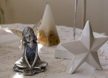 不可思议的ninph、星和金字塔stillife 免版税库存图片
