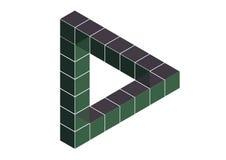 不可能的三角 库存例证