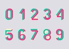 不可能的几何数字 库存图片