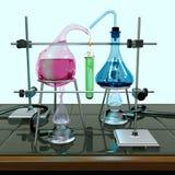不可能的化学实验 免版税库存照片