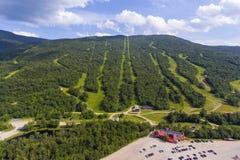 不可靠的山滑雪地区, NH,美国 库存图片