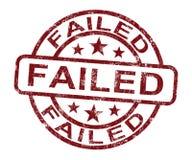 不合格的印花税陈列拒绝或故障 库存例证
