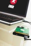 不合格的硬盘驱动器数据抢救 免版税库存图片