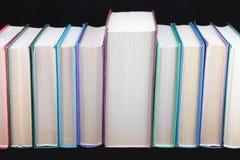 不同书的颜色 免版税库存照片
