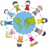 不同儿童的文化 免版税库存图片