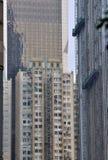 不同大厦的城市 免版税库存图片