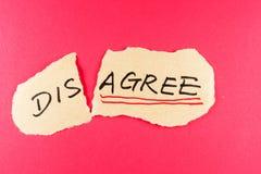 不同意同意 免版税库存图片