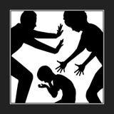 不同意在学科的父母 免版税图库摄影