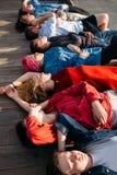 不同放松作白日梦的精神团结的片断 库存照片