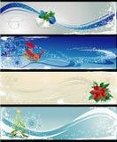 不同横幅的圣诞节 库存照片