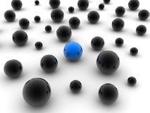 不同球的蓝色 免版税图库摄影