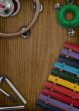 不同的乐器布局  免版税库存照片
