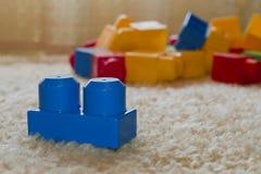 塑料玩具砖 库存照片