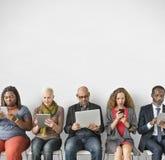 不同的人公共统一性技术Concep 免版税库存照片