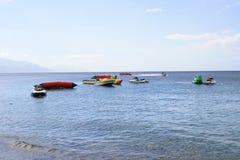 不同的体育水活动性在海 库存照片