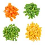 不同的冻结的集合蔬菜 免版税图库摄影