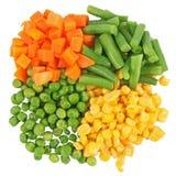 不同的冻结的集合蔬菜 库存图片