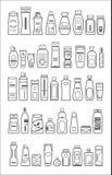 不同的化妆产品 库存例证