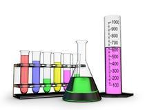 不同的化学烧瓶 免版税图库摄影