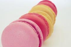 不同的味道Macarons  免版税库存图片