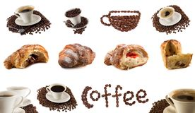 不同的咖啡 库存照片