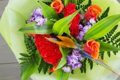 不同的品种花花束  库存图片
