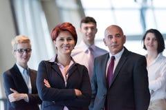 不同的商人小组在办公室 免版税图库摄影