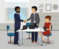 不同的商人握手在见面以后 免版税库存图片