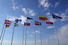 不同的国家、国家标志或者标志旗子  免版税库存图片
