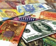 不同的国家金钱  免版税库存照片