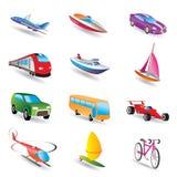 不同的图标亲切的运输旅行 免版税库存照片